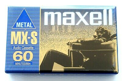 Maxell Mx-S 60 Metal Position Type Iv Blank Audio Cassette - Japan 1998