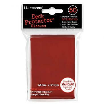 Ultrapro - Card Protector Sleeves - Red - 66 X 91 Mm Standard Size