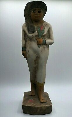 RARE EGYPT EGYPTIAN Large STATUE Antique QUEEN Nakhtmin GODDESS Carved Stone BC