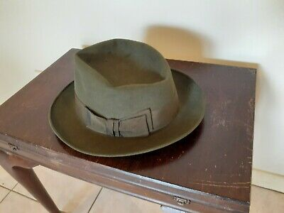 WINSTED by ROYAL STETSON MADE IN BRISBANE 52cm INNER BRIM GREEN FELT FAB CONDIT