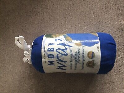 Original Moby Wrap Baby Carrier Baby Blue New Without Box