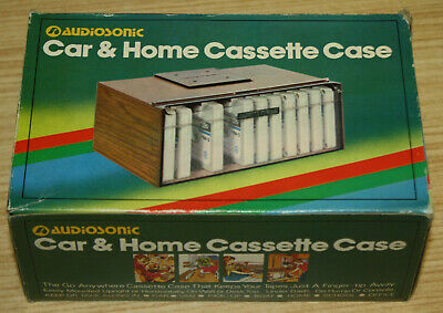 Vintage Audiosonic Car & Home Cassette Case