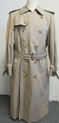 BURBERRYS' tan cotton-blend belted double-breasted trench coat SZ 50 R