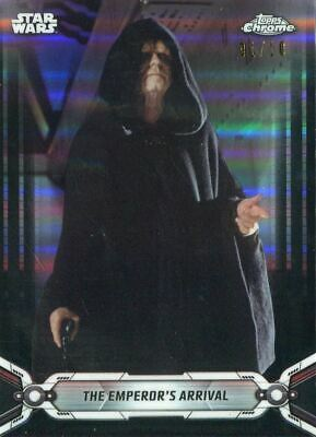 Star Wars Chrome Legacy Black [10] Base Card #136 The Emperor's Arrival