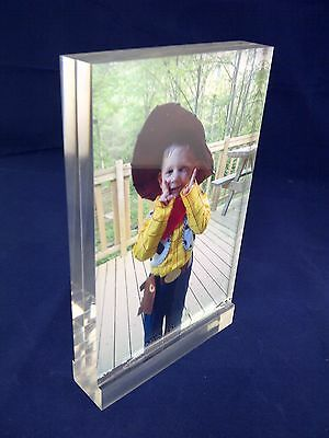 Clear Acrylic Perspex® Photo Blocks Photo Frame Blocks With Polished Edges