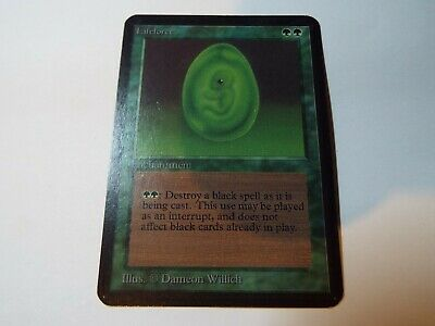 MAGIC THE GATHERING, MTG ALPHA GREEN UNCOMMON CARD LIFEFORCE, lp