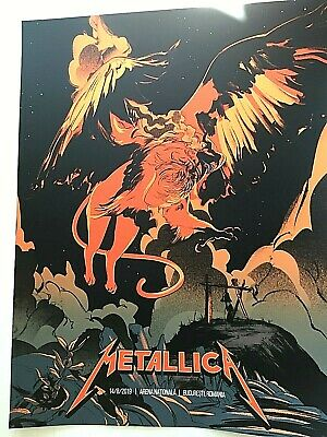 🔥 Metallica Bucharest Romania VIP ONLY LTD Print Poster #03/75 AUGUST 14th 2019