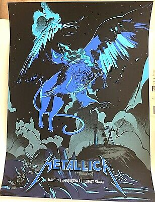 🔥 Metallica Bucharest Romania VIP ONLY BLUE VARIANT #6/25 Print Poster AUG 2019
