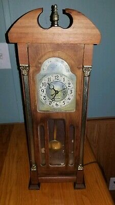 Vintage 1954 United Clock Corp Chiming Electric Grandfather Mantle Clock Works