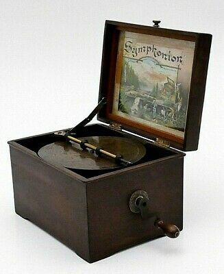 Old MUSIC BOX POLYPHON Record Player Alte Antike Polyphone antique SYMPHONION