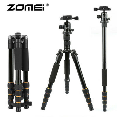 ZOMEI Q666 Flexible Portable Tripod Aluminum Travel Monopod For Canon SLR Camera