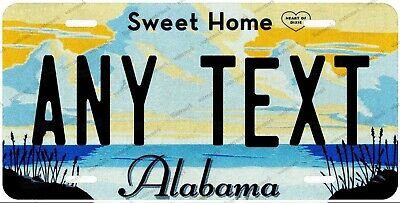 Alabama State Any Text Personalized Custom License Plate Tag For Auto Car ATV