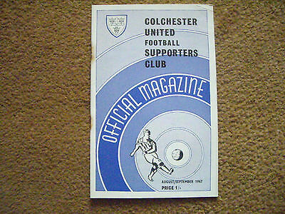 Colchester United Supporters' Club Official Magazine August/September 1967