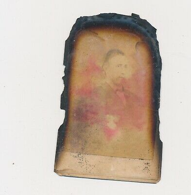 1860's CDV Extremely Damaged by House Fire of 1993 (Saved anyway)