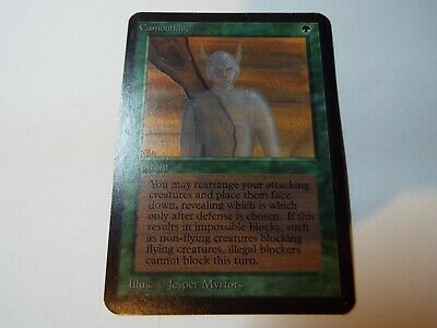 MAGIC THE GATHERING, MTG ALPHA GREEN UNCOMMON CARD CAMOUFLAGE, ex