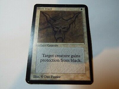 MAGIC THE GATHERING, MTG ALPHA WHITE UNCOMMON CARD BLACK WARD, lp