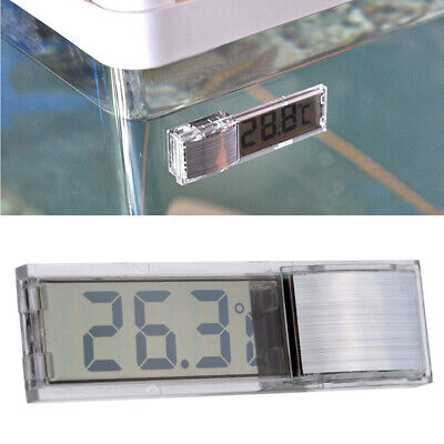 3D LCD Digital Induction Aquarium Fish Tank Water Temperature Meter Silver O1