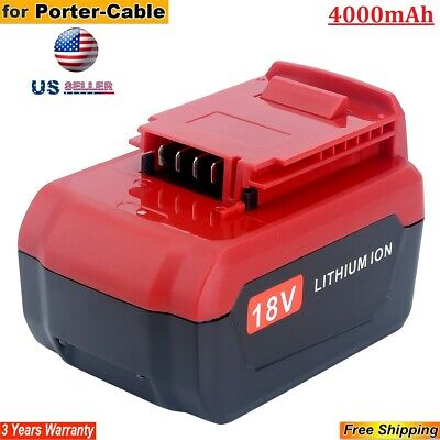 4.0Ah 18V Lithium Ion Battery for Porter Cable 18V PC18B PC18BL PC18BLX Cordless