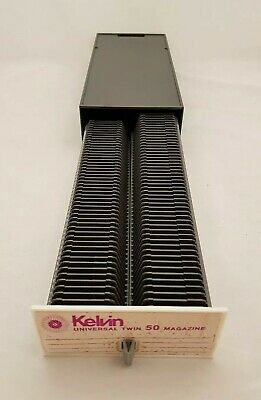 Kelvin Universal Twin 50 Magazine Slide Slides - Vintage Good Overall Condition.