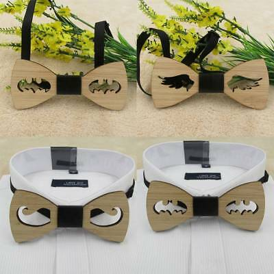 Mens Wooden Bow Tie Accessory Wedding Gifts Bamboo Woods Bowtie For Men Cool