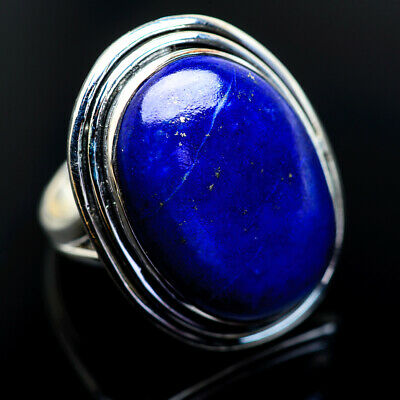 Large Lapis Lazuli 925 Sterling Silver Ring Size 7.25 Ana Co Jewelry R963030F
