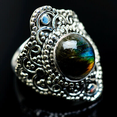 Large Labradorite 925 Sterling Silver Ring Size 7.75 Ana Co Jewelry R962492F
