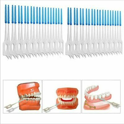 Transparent Boxes Interdental Brush Elastic Massage Rubber Oral Cleaning TD
