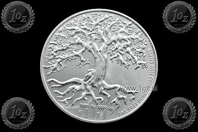 NIUE 2 DOLLARS 2019 ( TREE OF LIFE ) 1oz SILVER Coin ( Ag999/1000 ) UNC / NEW