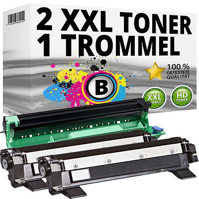 2x Toner Compatibile Brother TN1050 DR1050 DCP1510 DCP1512 DCP1610W 1612 HL-1110