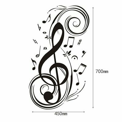 Creative Musical Notes Wall Stickers Living Room Home Removable Art Decals TD