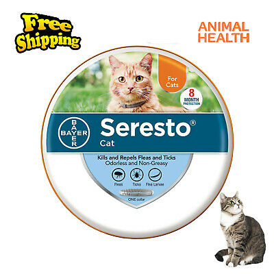 Bayer Seresto Flea and Tick Collar for Cat 8 months Protection Free Shipping