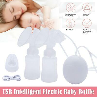 Electric Hand Free Double Breast Pump Automatic Intelligent Baby Feeder USB UKU1