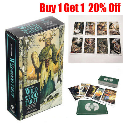 78Pcs/Set Cards Wild Wood Tarot Cards Beginner Deck Vintage Fortune Telling AM
