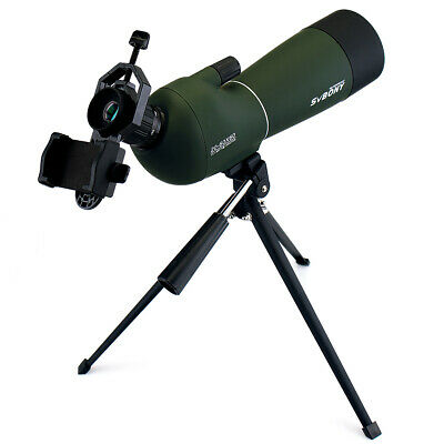 SVBONY 20-60x60mm Zoom Spotting Scope+Universal Cell Phone Mount Adapter US SHIP
