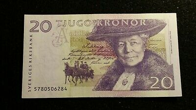 1990's Sweden, 20 Kronor note Circulated Banknote # 150
