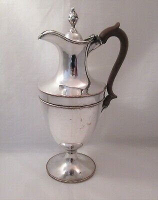 A Good 19th Century Silver Plate Wine Ewer / Wine Jug