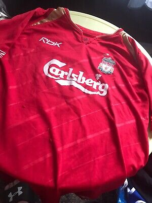 Liverpool Champions League 2005 Gerrard Shirt Junior Large 152cm