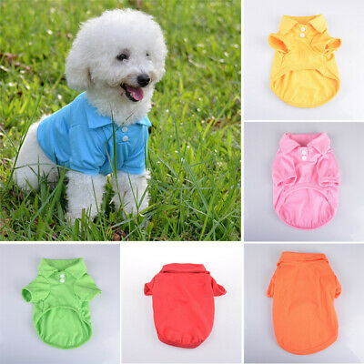 Summer Cool Puppy Costumes Cotton Apparel Shirt Outfit Clothes Cat Dog Pet Coat
