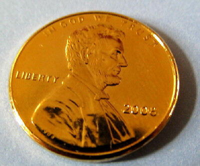Gold USA Cent Lincoln Coin Penny America Washington Temple Old Unusual Unique US