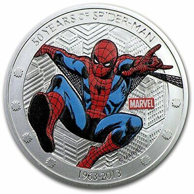 Spider man Silver Coin 3D Comic Book Super Hero Animation Cartoon Web Stan Lee