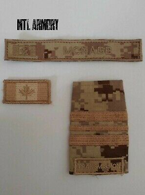 Canadian Forces Cadpat Desert Patches Canada Army