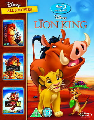 The Lion King 1-3 Trilogy  (Region Free) [New Blu-ray]