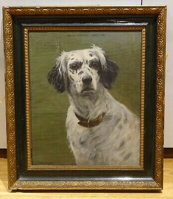 """Early 20th Century Italian Campaign Dog Portrait """"Diana"""" Francis Mabel HOLLAMS"""
