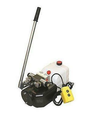 Flowfit 24V DC Double Acting Hydraulic Power pack, 8L Tank & Hand pump ZZ005137