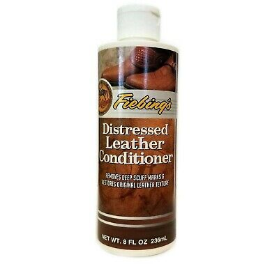 Fiebings Distressed Leather Conditioner 236ml Restores Original Leather Texture
