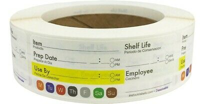 Dissolvable Labels Shelf Life 2X3 Inch For Food Prep Rotation Safety Food Date S