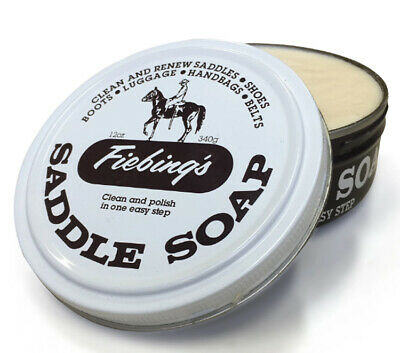Fiebings Saddle Soap White 12oz / 340g Cleans And Polishes All Leather Products