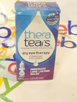 Thera Tears Dry Eye Therapy Lubricant Eye Drops 1/2 fl oz Exp 10/2019 SHIPS FREE
