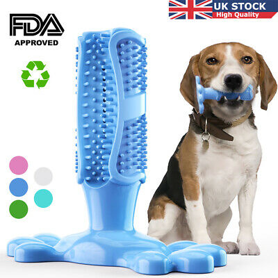 Dog Teeth Clean Chewing Toys Rubber Toothbrush Stick Bite Resistant Brush Tools