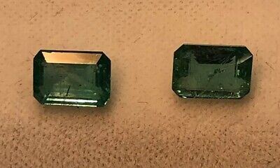 Pair of HQ Stone 1.86 ctw, Natural Zambian Emerald Certified